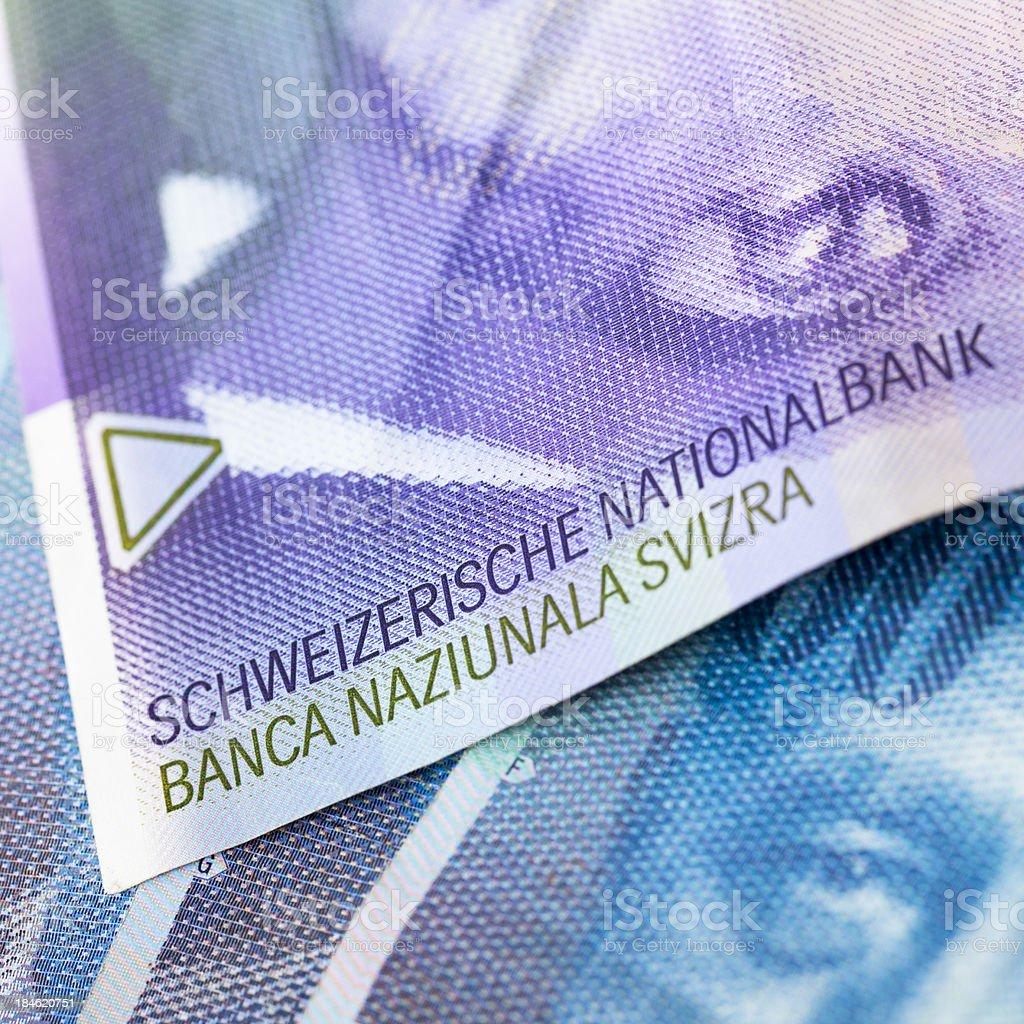 Swiss Francs Close-Up royalty-free stock photo