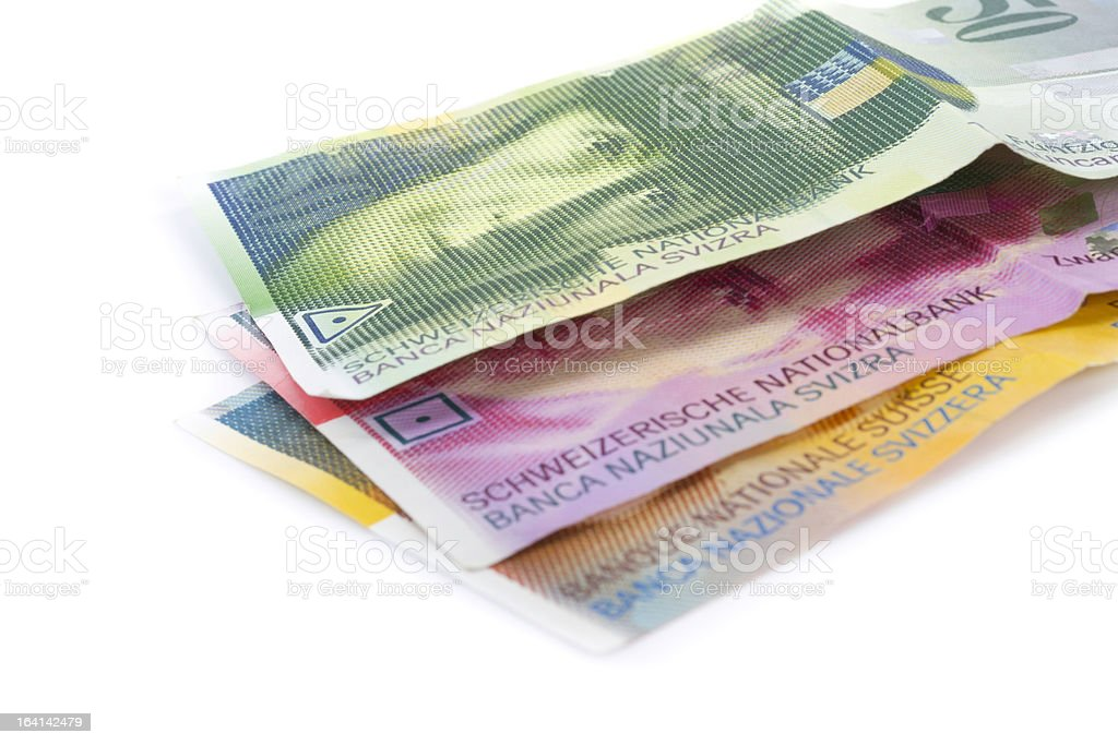 swiss francs royalty-free stock photo