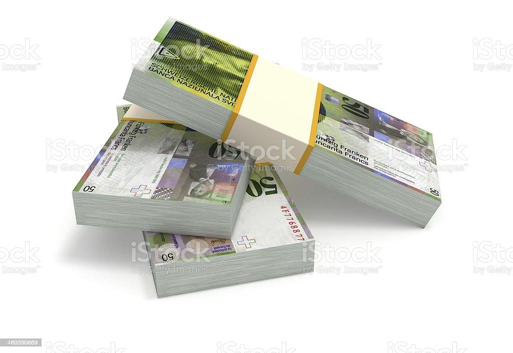 Swiss Francs stock photo