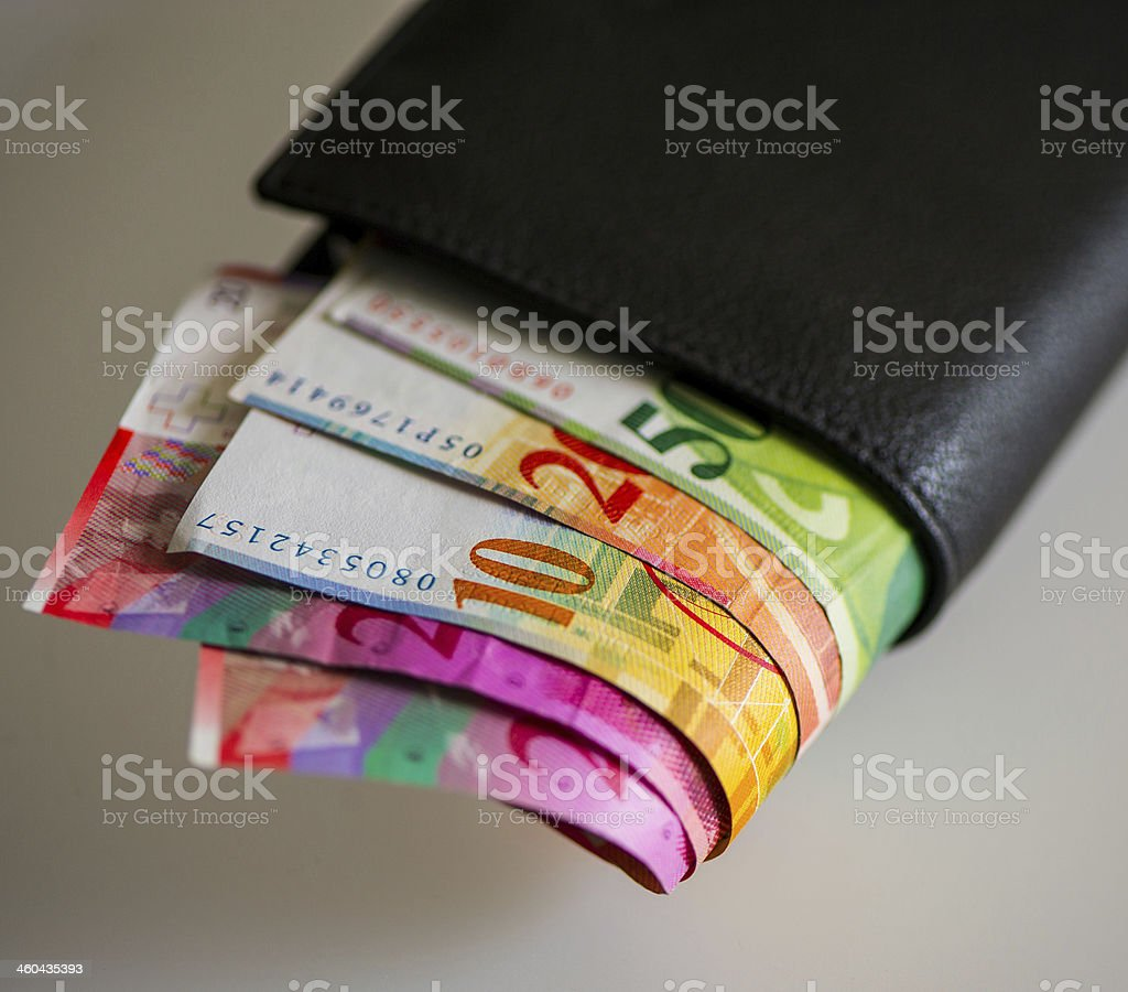 Swiss frank stock photo