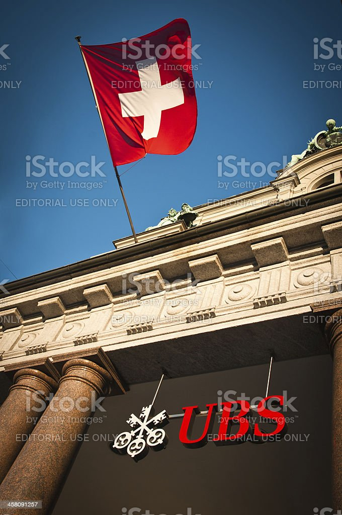 UBS AG Swiss global financial services company stock photo