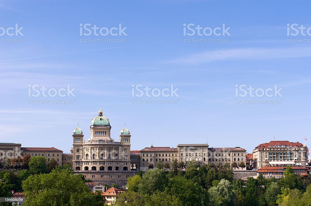 Swiss government building in summer stock photo