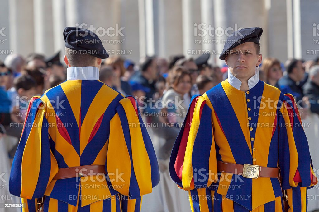 Swiss guard in uniform stock photo