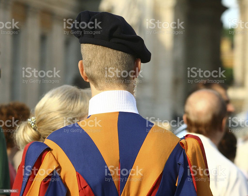 Swiss Guard in Vatican City, Italy royalty-free stock photo