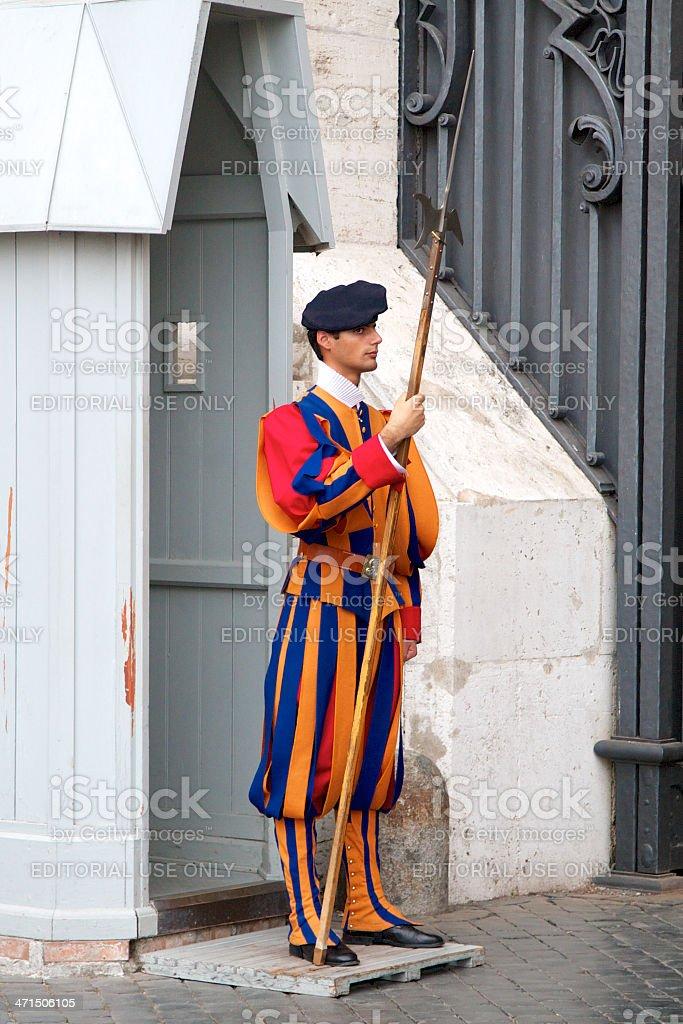 Swiss Guard royalty-free stock photo
