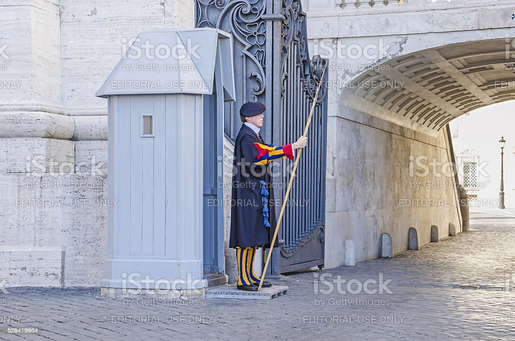 Swiss Guard stock photo