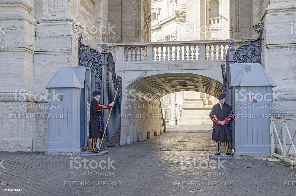 Swiss Guard stock photo