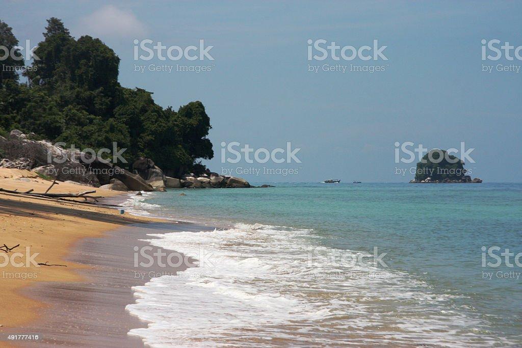 Swiss hotel beach stock photo