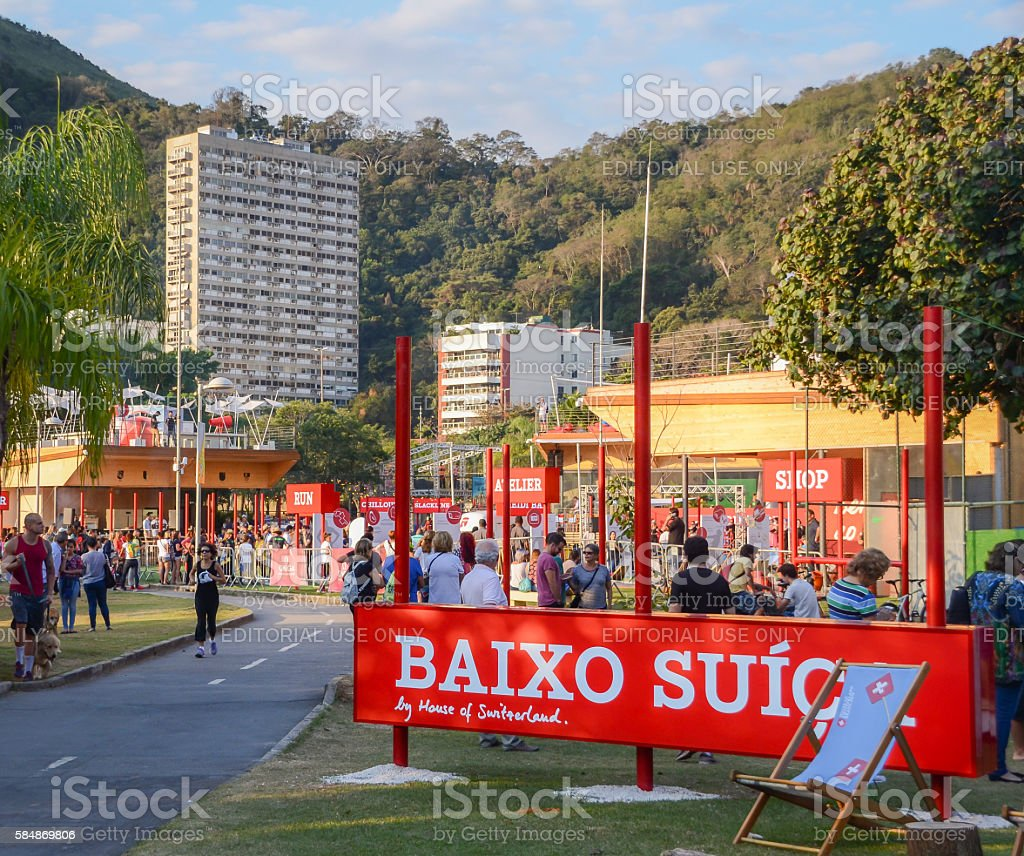 Swiss House pavilion in Rio de Janeiro, Brazil stock photo