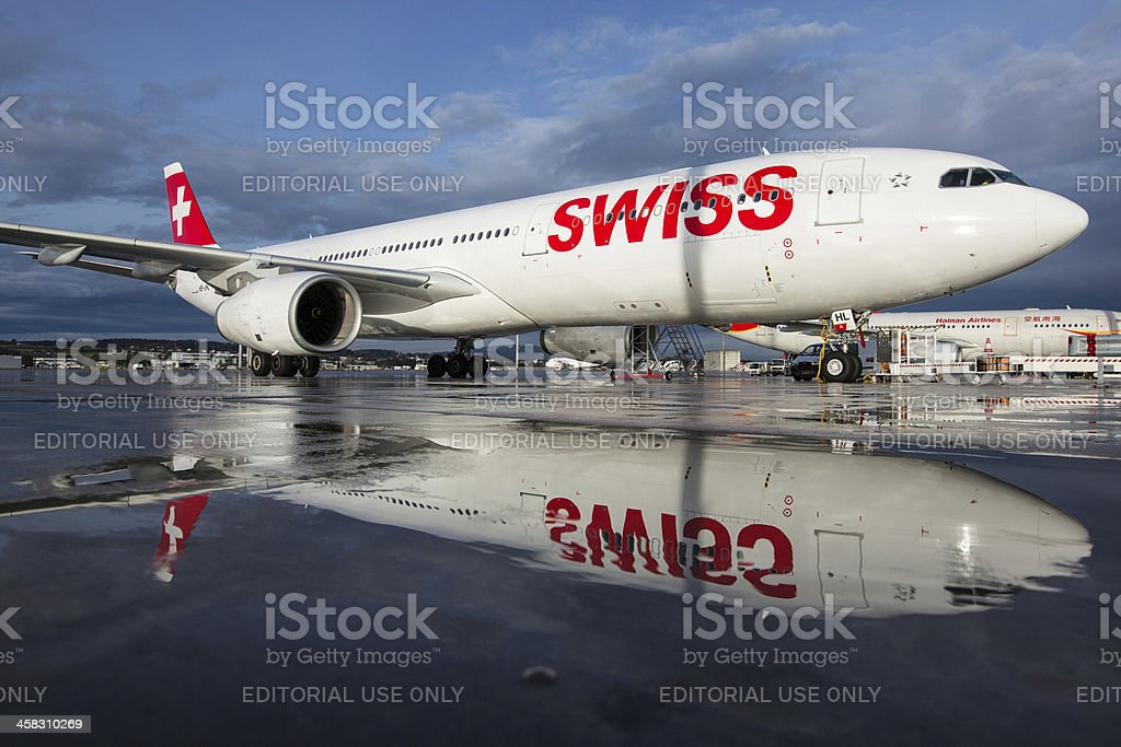 Swiss International Air Lines Airbus A330-300 royalty-free stock photo