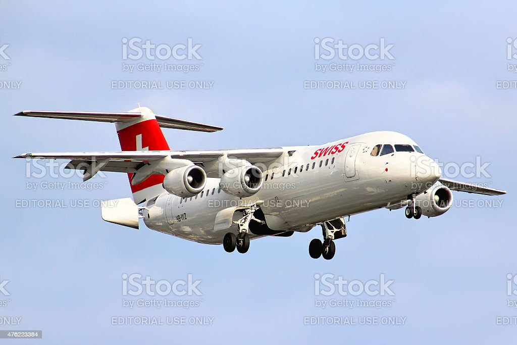 Swiss International Air Lines BAe Systems Avro 146-RJ100 stock photo