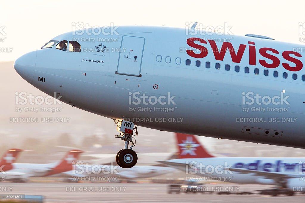 Swiss International Airlines stock photo