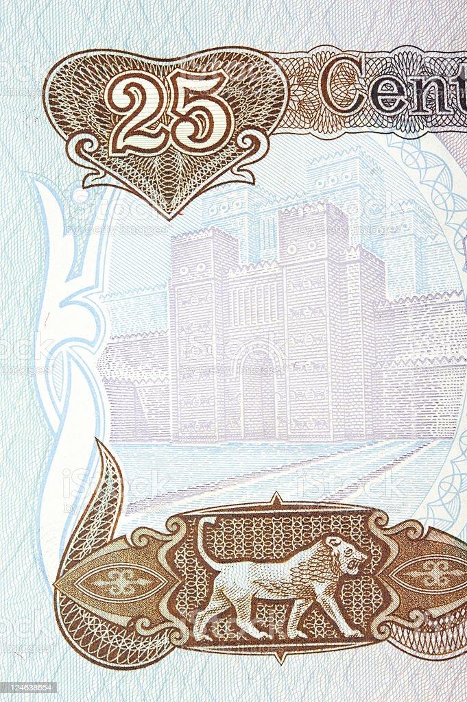 Swiss Iraqi Dinar stock photo