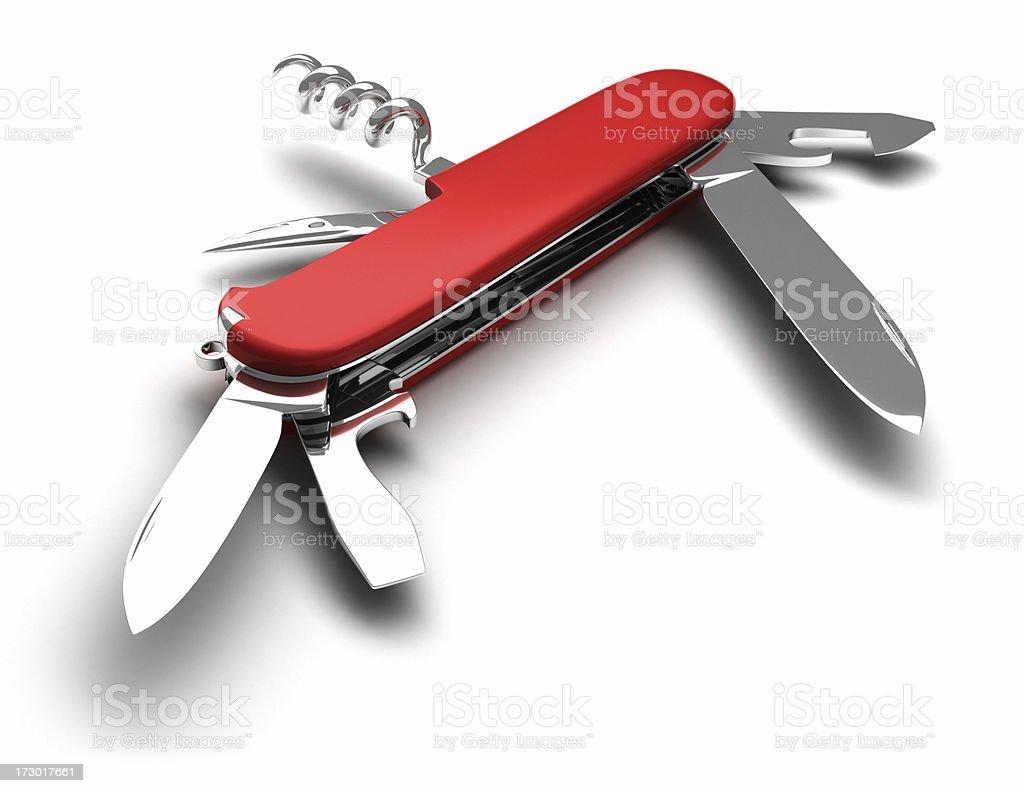 Swiss Knife (open) stock photo