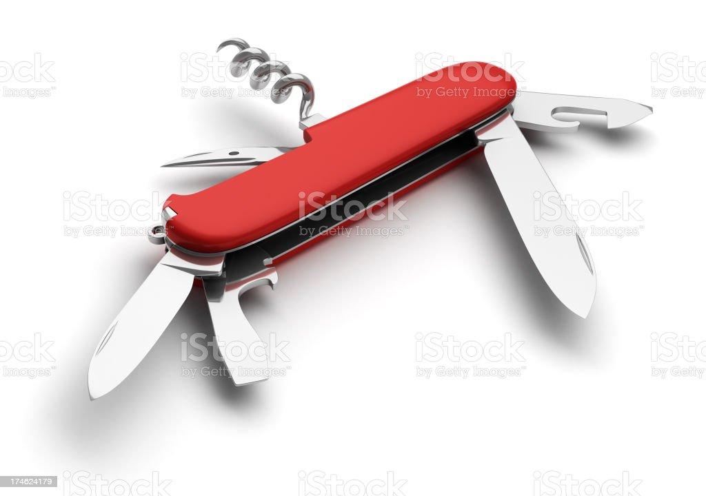 Swiss Knife (better lighting) stock photo
