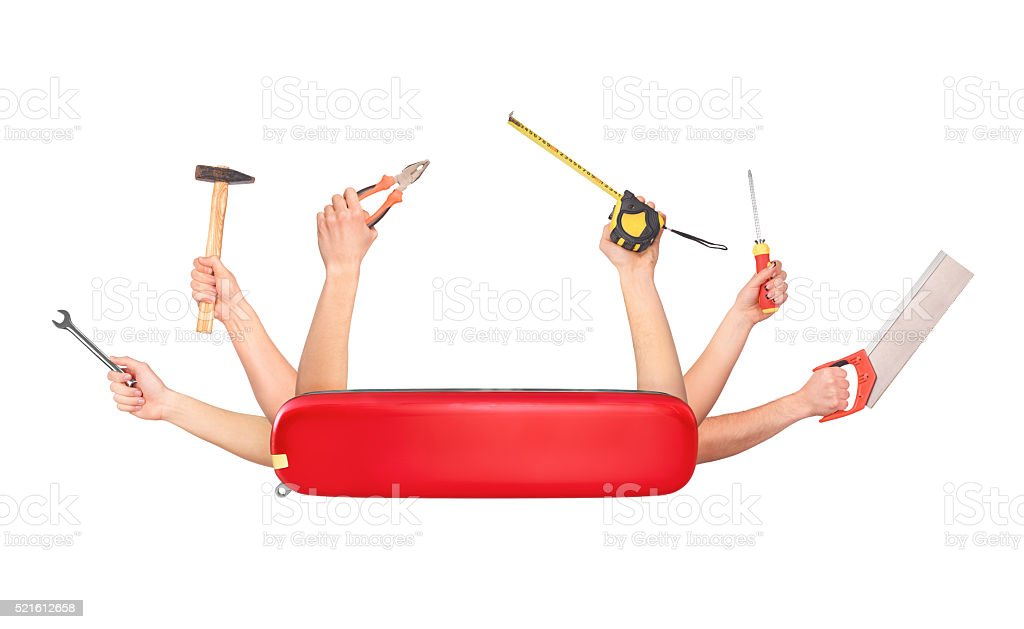 Swiss knife stock photo