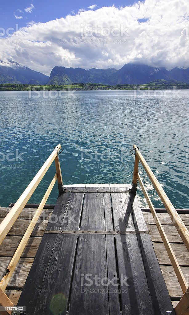 Swiss lake landscape stock photo