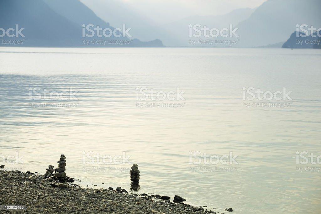 swiss lake royalty-free stock photo