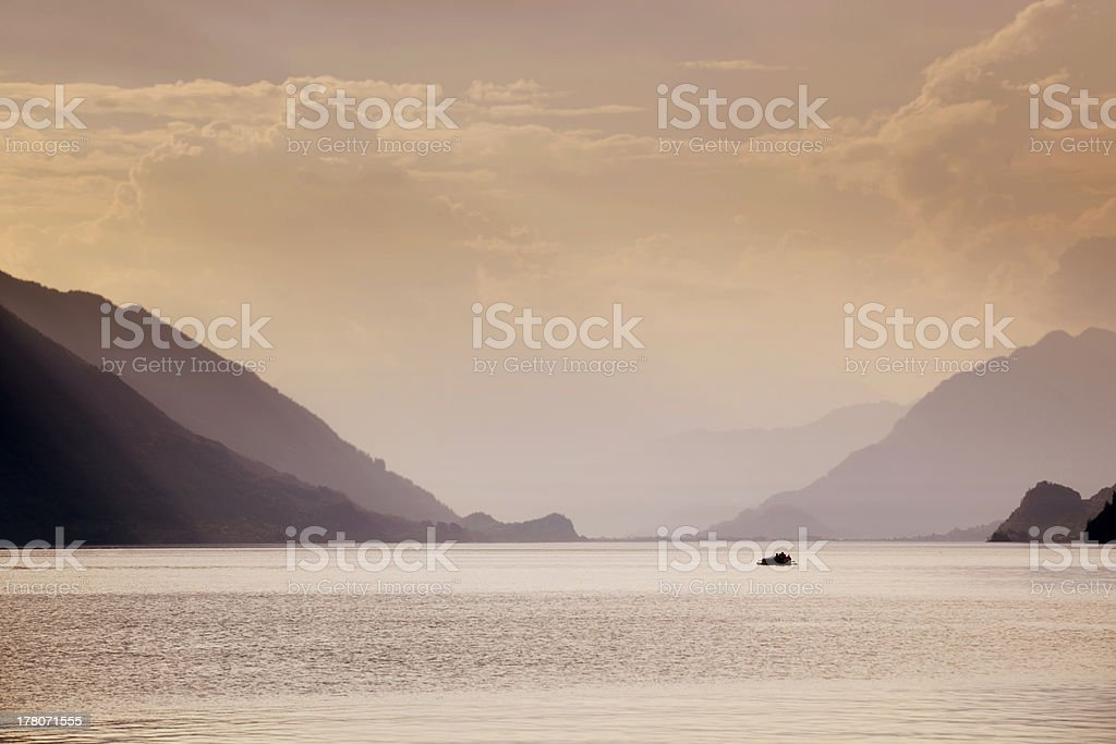 swiss lake royalty-free stock photo