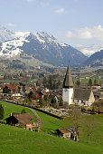 Swiss landscape in springtime