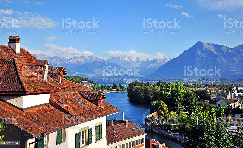 Swiss landscape stock photo