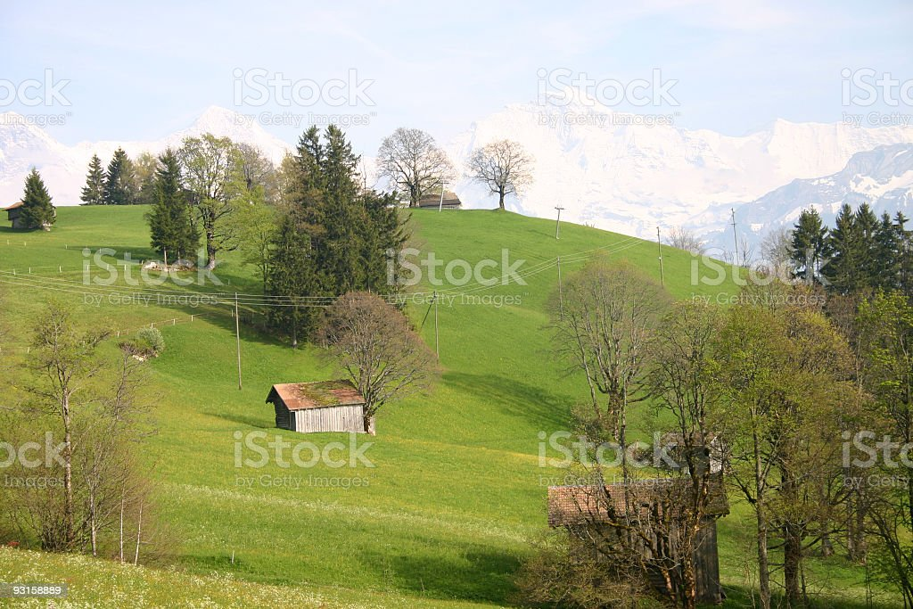 Swiss landscape royalty-free stock photo