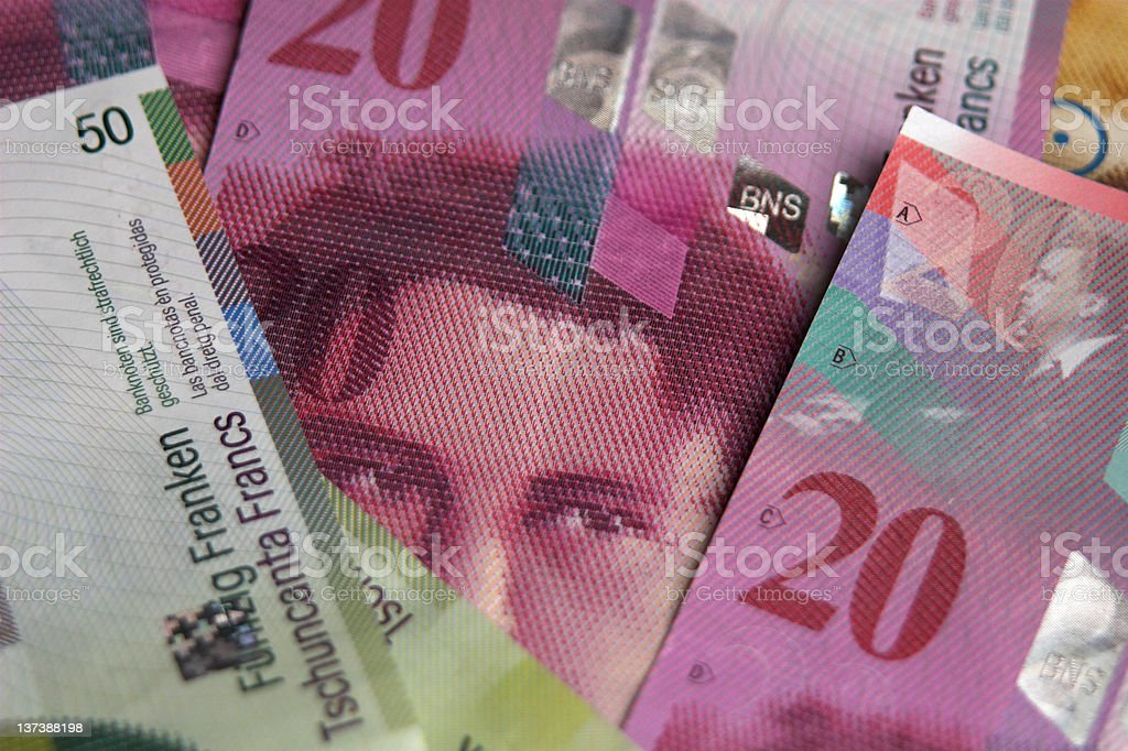 Swiss money royalty-free stock photo
