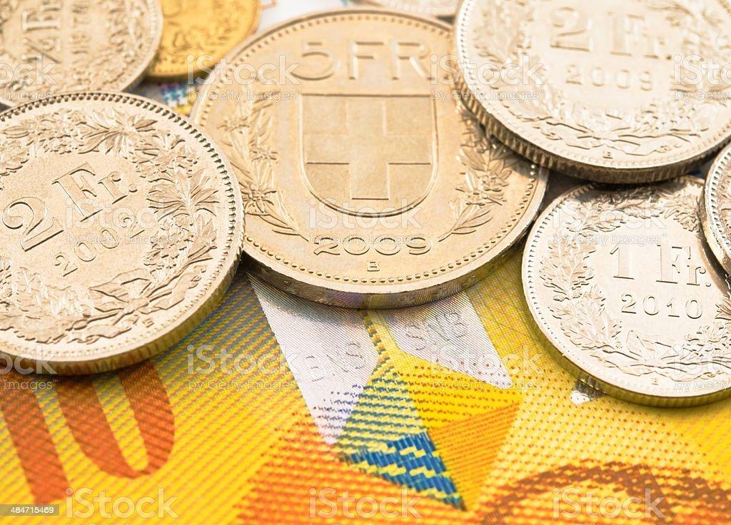 Swiss money. stock photo
