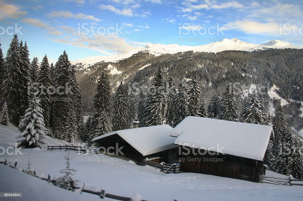 Swiss Mountain Cottage royalty-free stock photo
