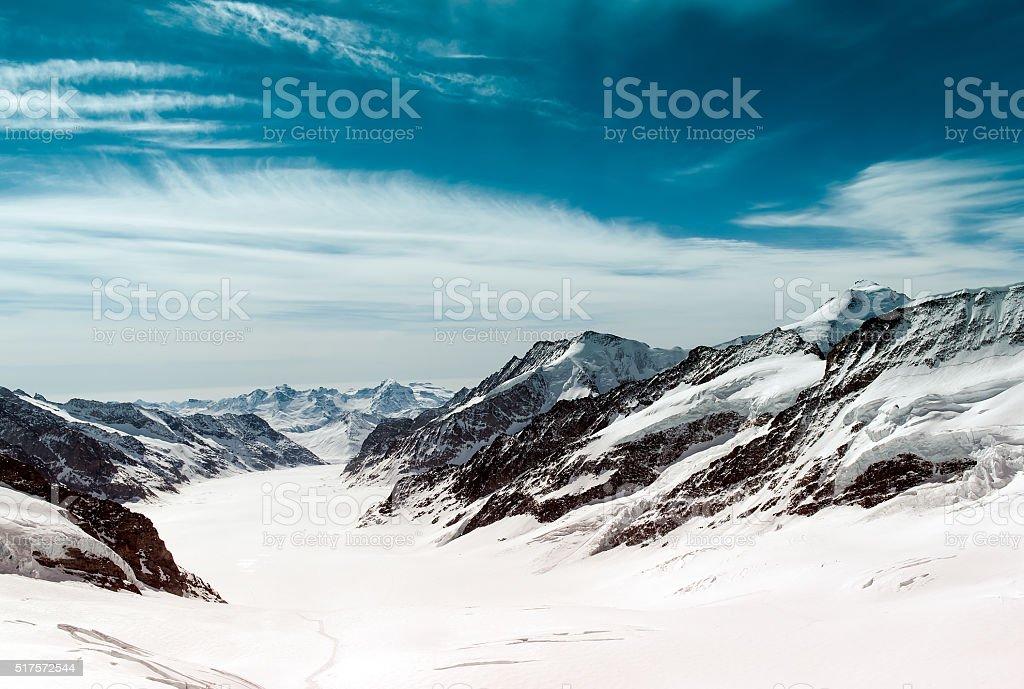 Swiss mountain, Jungfrau, Switzerland, stock photo