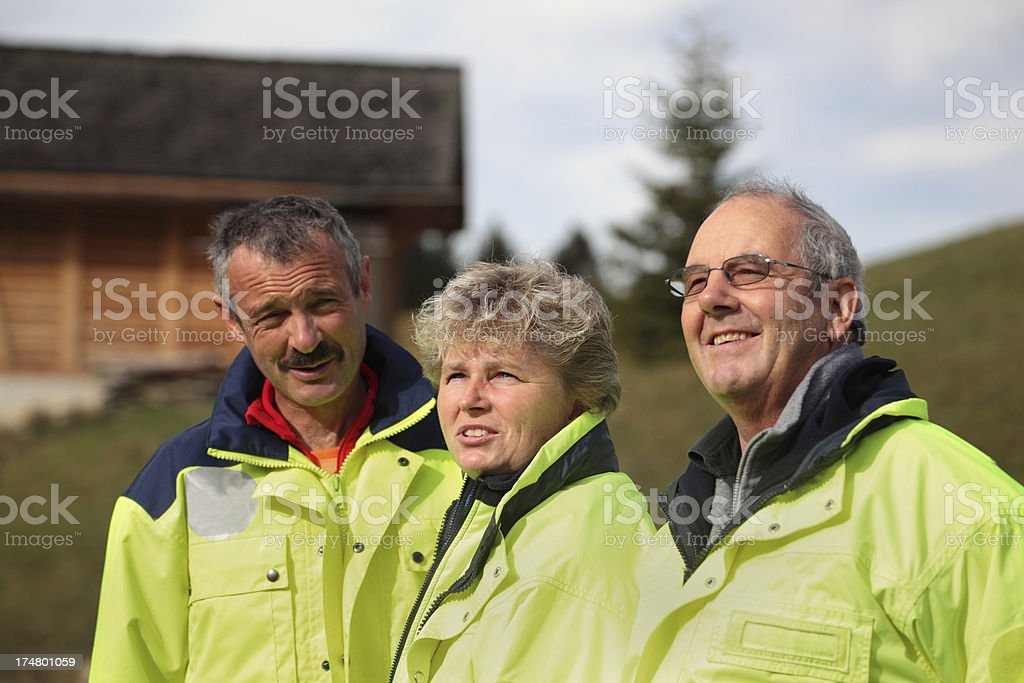 swiss mountain rescue team in bernese oberland alps stock photo