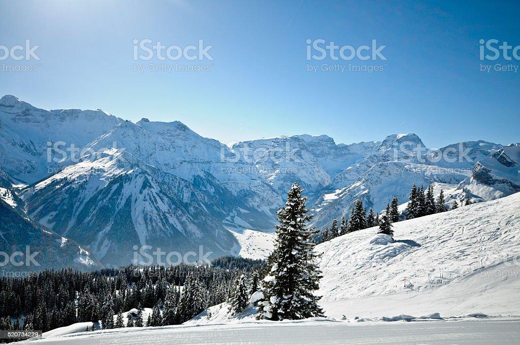 Swiss Mountain Resort stock photo