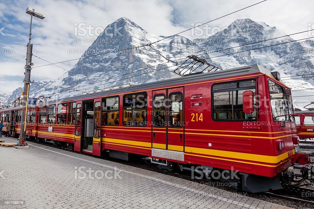 Swiss Mountain Train royalty-free stock photo