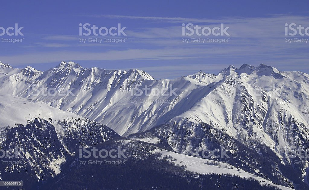 Swiss mountain view royalty-free stock photo