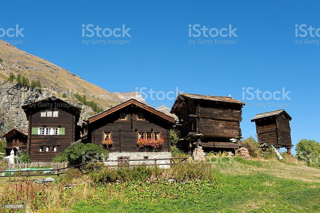 Swiss mountain village royalty-free stock photo