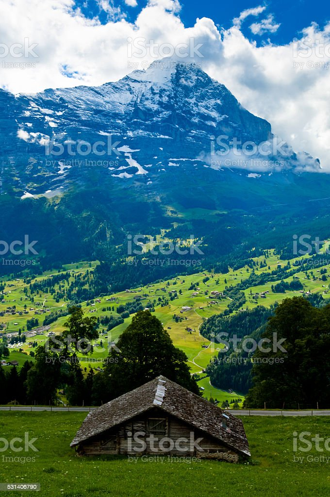 Swiss mountains in the summer - Bernese Alps stock photo