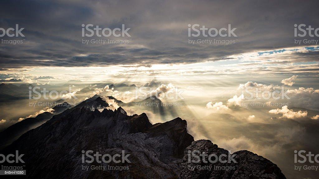Swiss mountains (Alpstein) stock photo