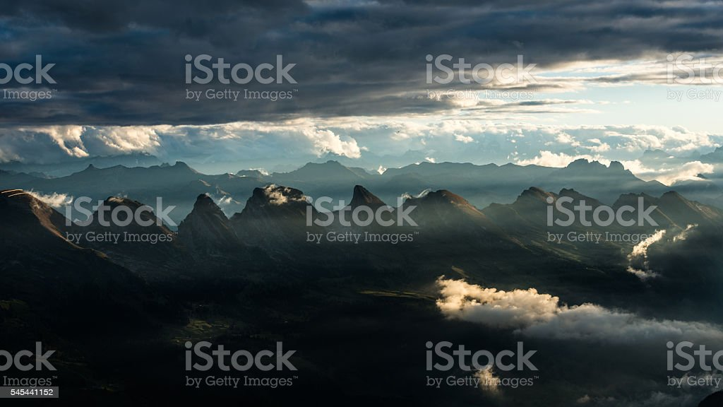 Swiss mountains (Churfirsten) stock photo