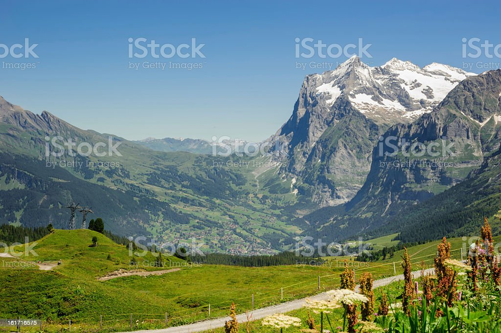 Swiss Mountains Region at Bernese Alps royalty-free stock photo