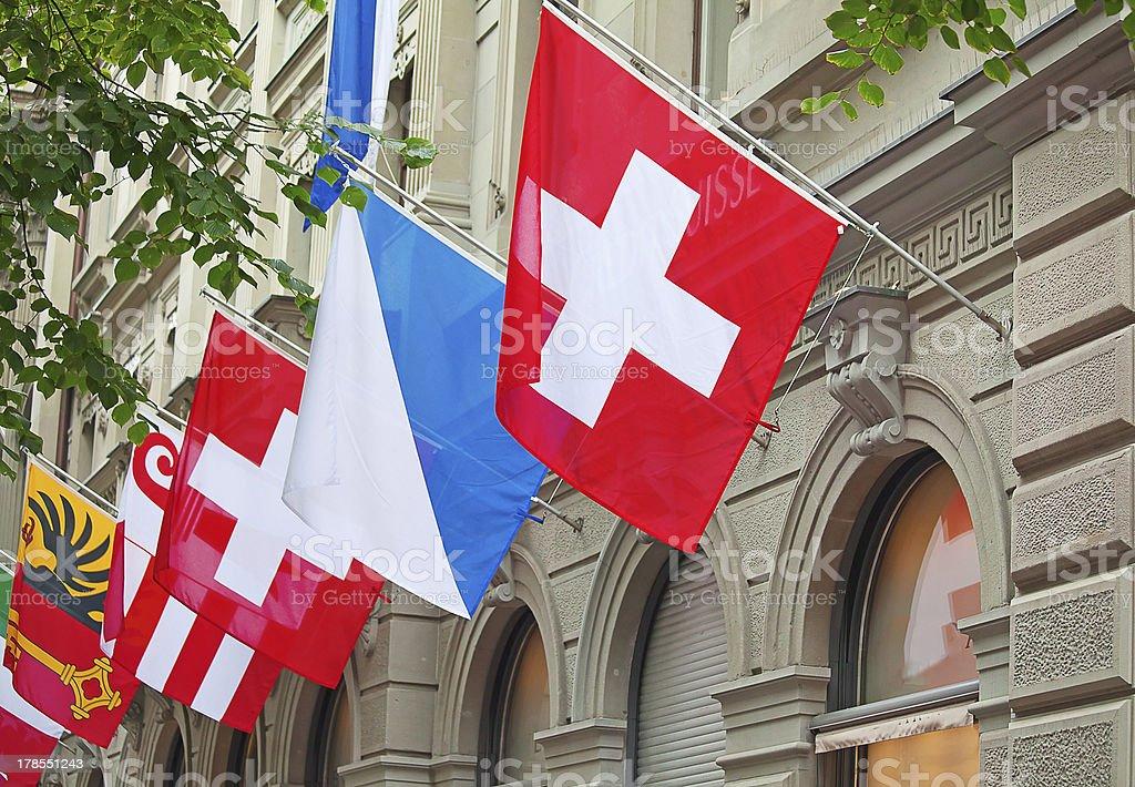 Swiss National Day in Zurich stock photo