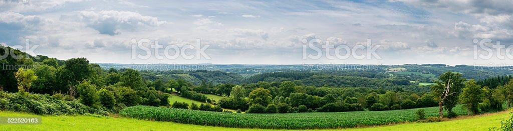 Swiss Normandy panorama stock photo