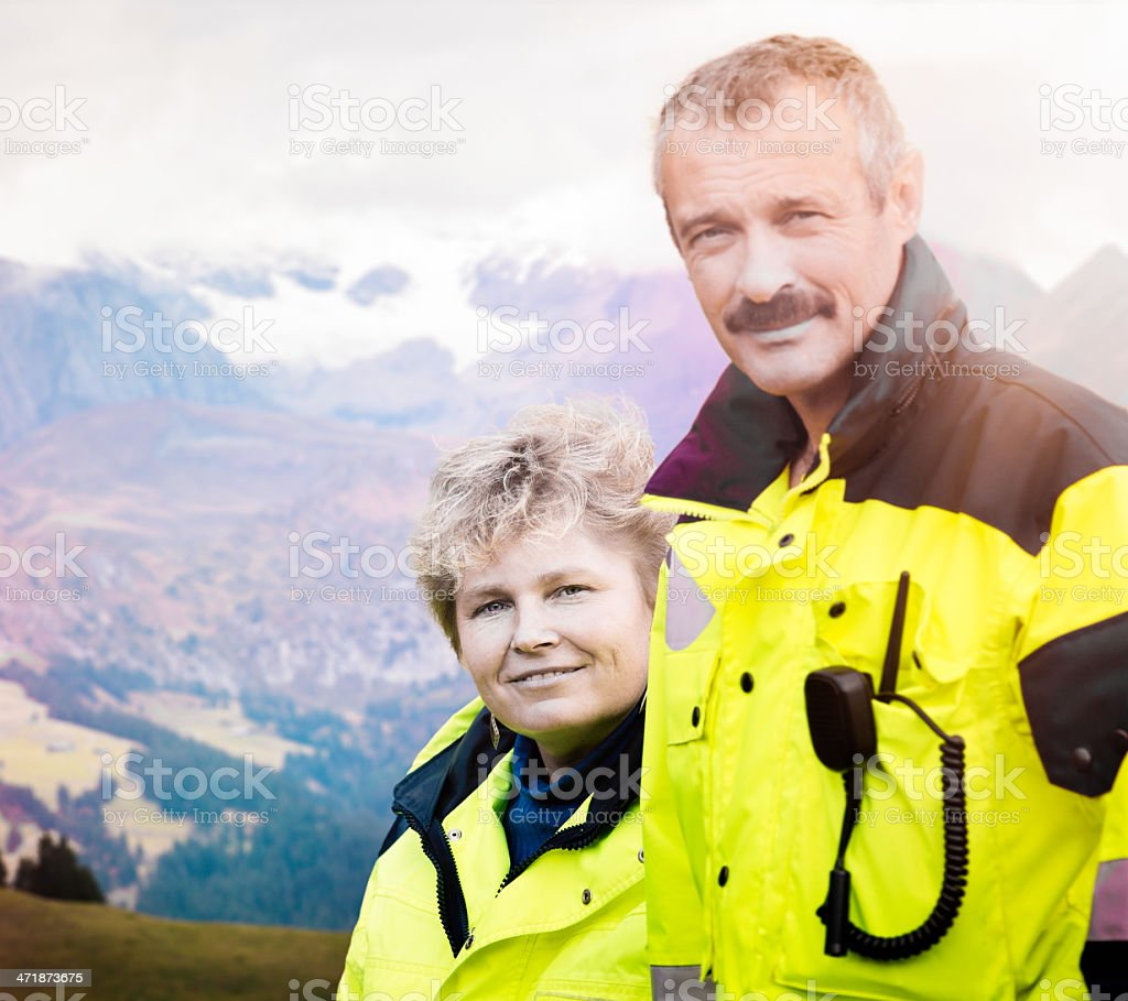 Swiss Paramedic Alpine team royalty-free stock photo