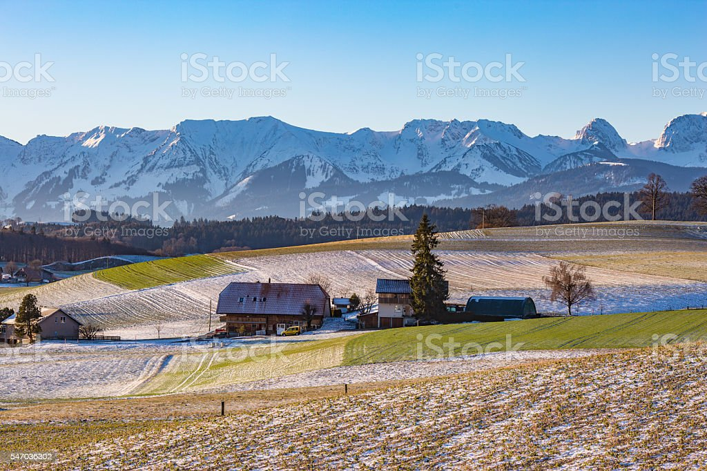 Swiss park stock photo