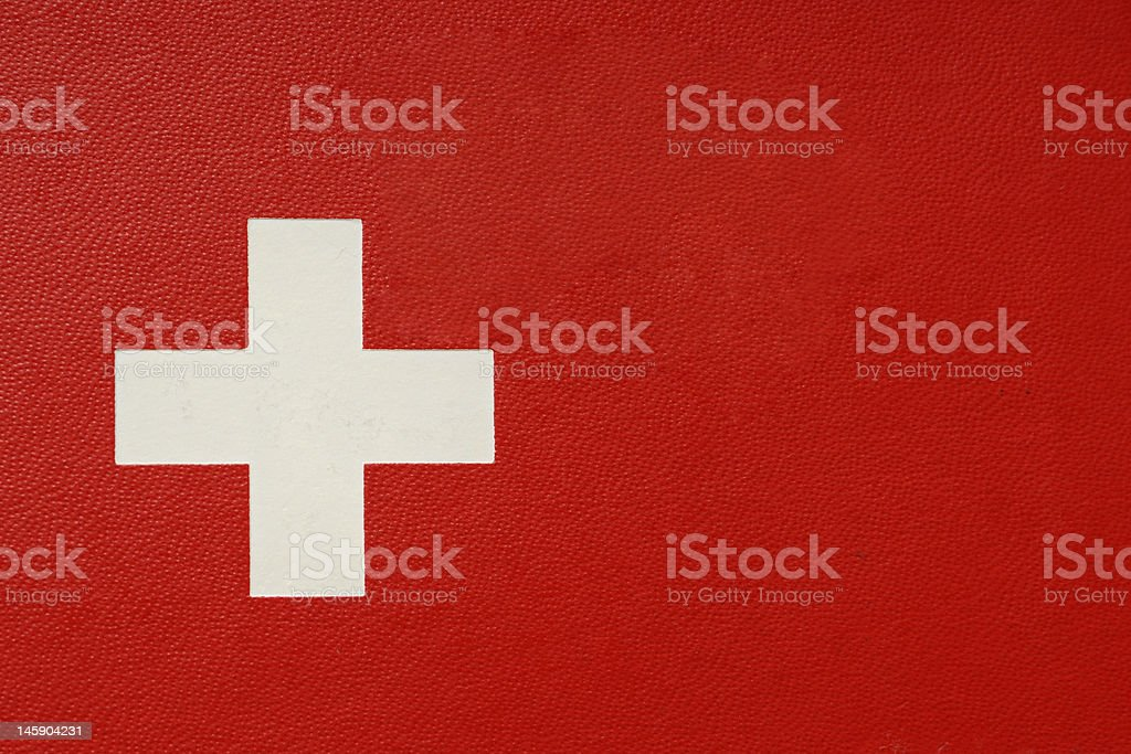Swiss Passport close-up without text royalty-free stock photo