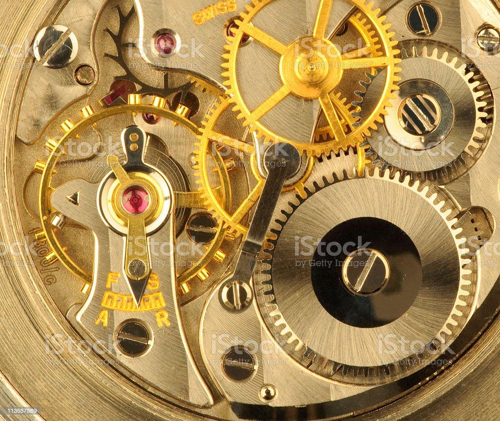Swiss precision clockwork stock photo