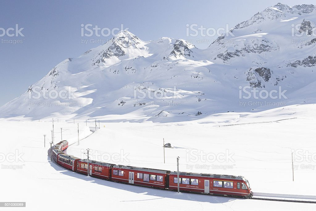 Swiss railway stock photo
