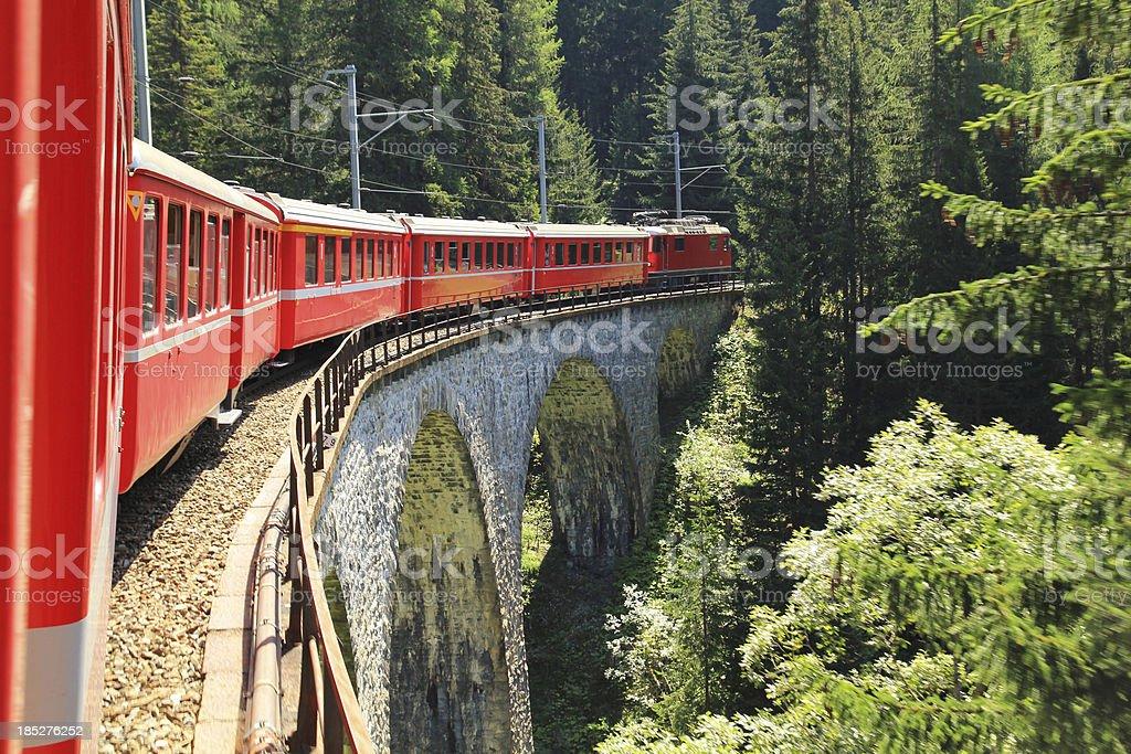 Swiss railways royalty-free stock photo