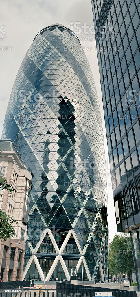Swiss Re Gherkin Building stock photo