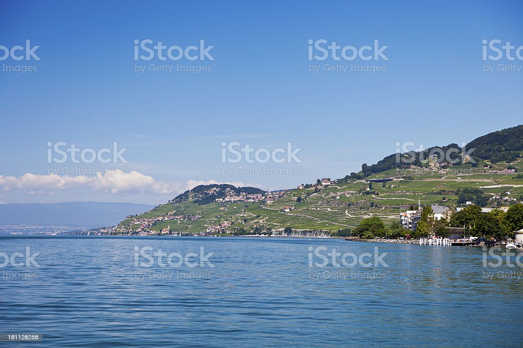Swiss Riviera between Vevey and Chexbres royalty-free stock photo