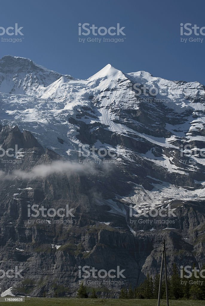 Swiss Rocky Alps in the Summer royalty-free stock photo